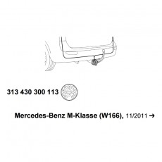 Комплект электрики 313430300113 WESTFALIA Mercedes ML w166